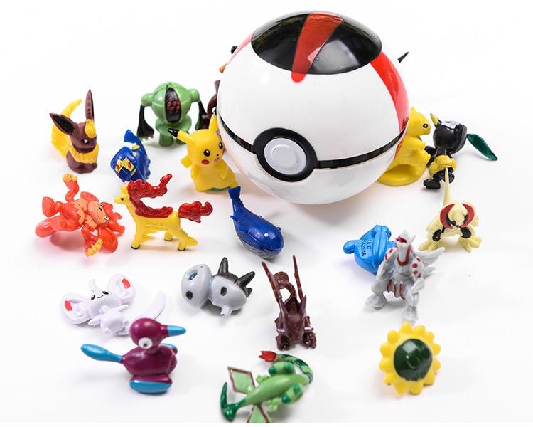 Kids Toy Pokemon Ball Action Figure Cartoon Pop-up Pikachu Deformation Pokeball Monster  Great Ultra Metaballs Reversible Ball