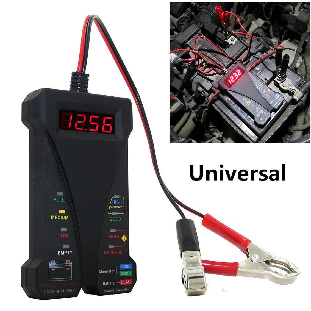 €8.47 20% СКИДКА|12 В ЖК дисплей Цифровой тестер батареи Вольтметр и система зарядки анализатор|Электрические тестеры и щупы| |  - AliExpress