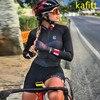 2020-kafitt triathlon bicicleta pouco macaco ciclismo wear workwear esportes correndo mulher vestido de uma peça manga longa loop conjunto pro 7