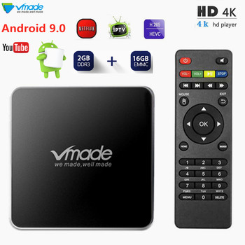 Vmade New Smart TV Set-Top Box Android 7.1 2GB 16GB Amlogic S905W Quad Core IPTV Box Support WiFi H.265 Youtube Google Netflix 5pcs lot meelo tvip s805 quad core linux iptv m3u smart tv box support web portal h 265 stalker wifi 2 4g smart media player 250