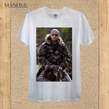 Vladimir Putin President Russia Moscow Leader Donald Trump 100% quality cotton Novelty Cool Tops Men Short Sleeve Tshirt