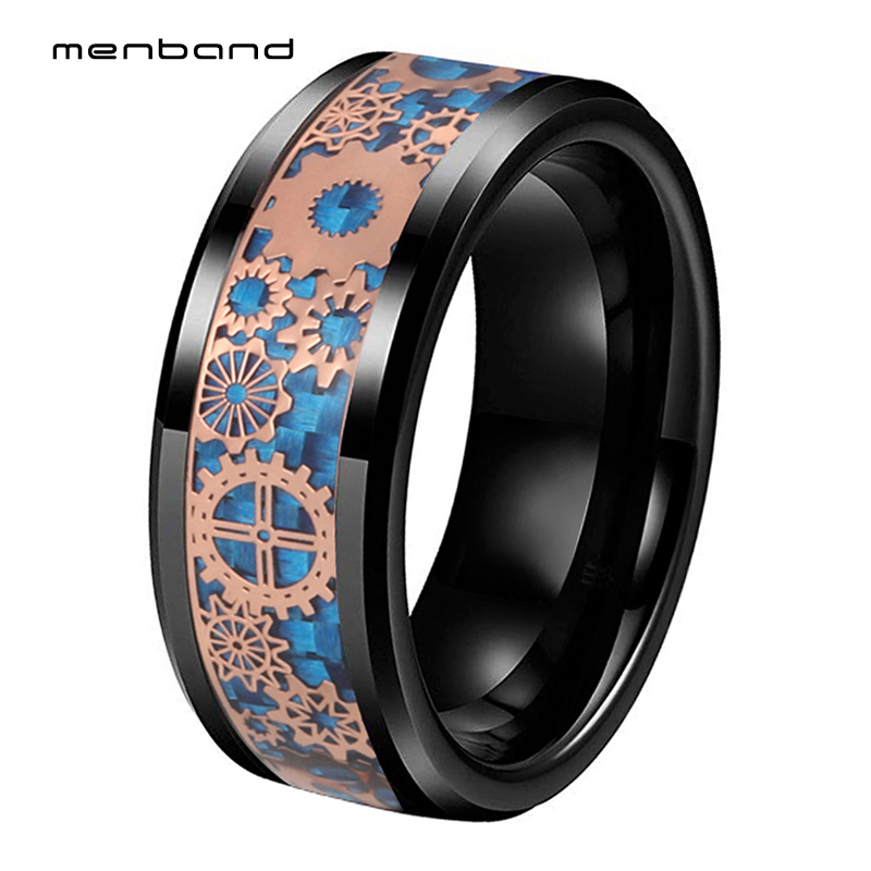 Tungsten Carbide Ring Personalized Custom Wedding Rings Lover Engagement Bands for Men Women Anniversary Jewelry Comfort Fit