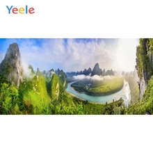 Yeele Landscape Photocall Dreamlike Mount River Fog Photography Backdrops Personalized Photographic Backgrounds For Photo Studio
