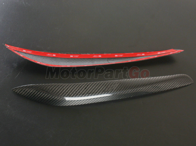 Real Crabon Fiber Head light Eyelid Eyebrow Cover Trim 1pair for  Nissan Skyline GTR GT-T R34 T114 1999-2002 T213 5