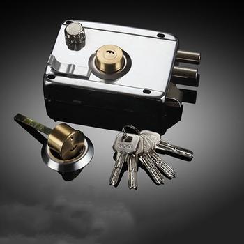 Blokada drzwi mocne rygiel bezpieczeństwo w domu uniwersalne zewnętrzne zabezpieczenie przed kradzieżą stal nierdzewna wielokrotne ubezpieczenie gładkie tanie i dobre opinie STAINLESS STEEL