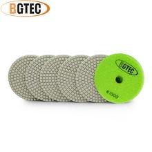 Bgtec 4 дюйма 6 шт #1500 гибкие Алмазные полировальные колодки