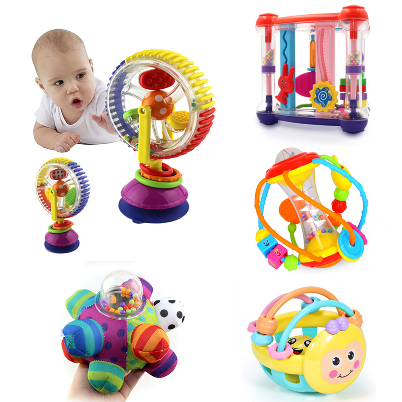 Baby Toys 0-12 Months Climb Learning Baby Rattle Activity Ball Rattles Educational Toys For Baby Grasping Ball Puzzle