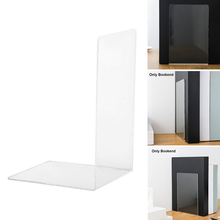 Desktop-Organizer Book-End Library Reading Transparent Office-Stationery Acrylic L-Shape