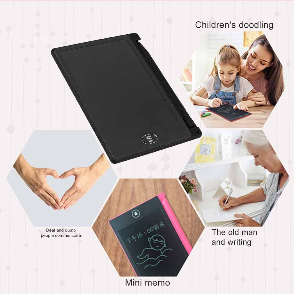 UnitedCAheart 4.4 Inch Mini Writing Tablet Digital LCD Drawing Notepad Electronic Practice Handwriting Painting Tablet Pad Gift for Kids Writing Tablet