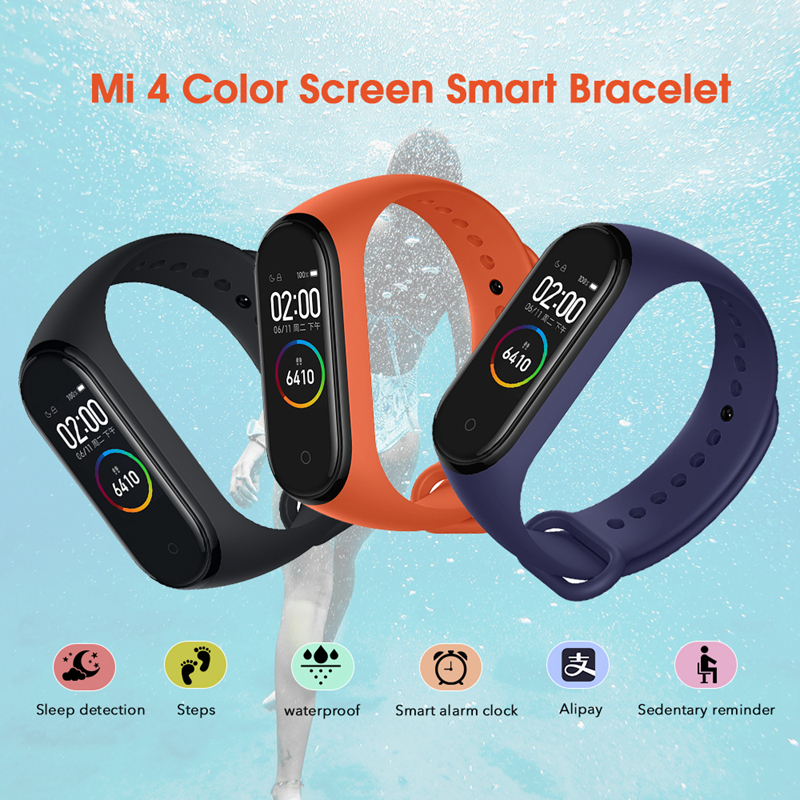 Original Xiaomi Mi Band 4 Smart Bracelet 3 Color AMOLED Screen Miband 4  Fitness Traker Bluetooth Smartband Sport Waterproof