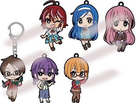 Anime We Never Learn Keychain Cartoon Figure Bokutachi Wa Benkyou Ga Dekinai Bag Pendants Car Key Chains Keyrings