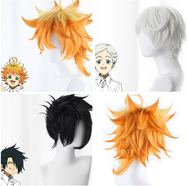 Anime The Promised Neverland Emma Cosplay Wig Norman Ray Hair Cosplay Costume Props Wig