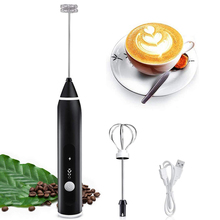3-Speeds Electric Eggs Beater Whisk Coffee Milk Foamer Cream Frother USB Rechargeable Mini Mixer Handheld Food Blender Whisk