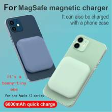 For MagSafe iPhone 12 Pro pro max xr Mini magnetic power bank wireless charger ultra thin portable power pack auxiliary battery