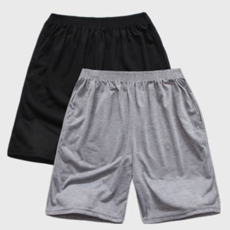 New Solid Color Casual Shorts Men's Japanese Style Loose Breathable Quick-drying Shorts Male Jogging Casual Fitness Beach Shorts