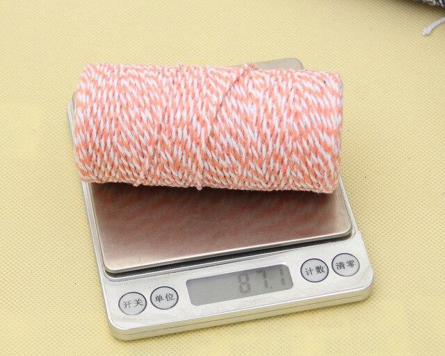 2mm x 100M corde deux couleurs coton boulangers ficelle corde rustique artisanat matériel fait à la main accessoires 100% nouveau Jute macramé cordon