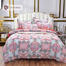 Liv-Esthete European Bohemia Bedding Set Duvet Cover Flat Sheet Pillowcase Double Queen King Bed Linen Wholesale Free Shipping