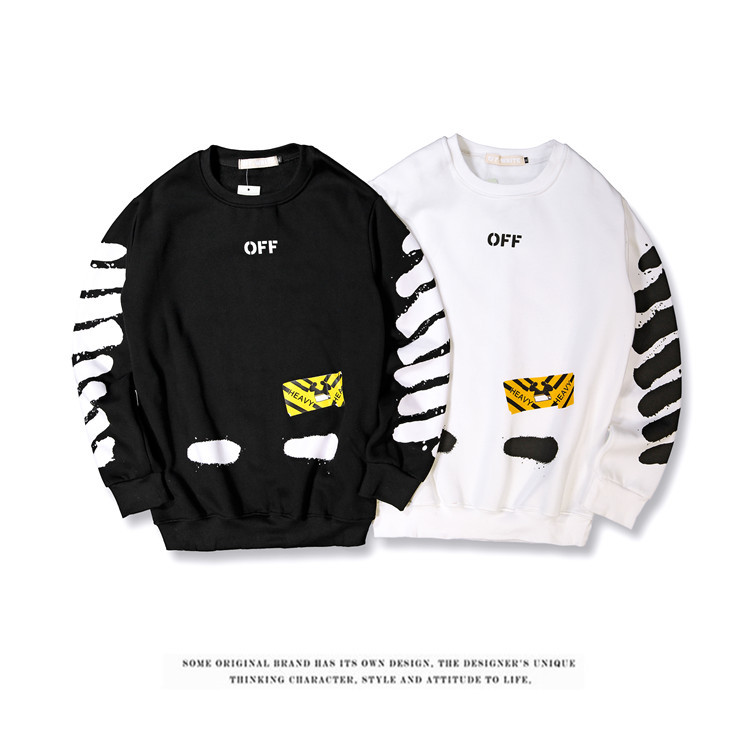 Off White Popular Brand Pullover Hoody Plus Velvet Casual Men And Women Couples Purchasing Agents Hot Selling Tops