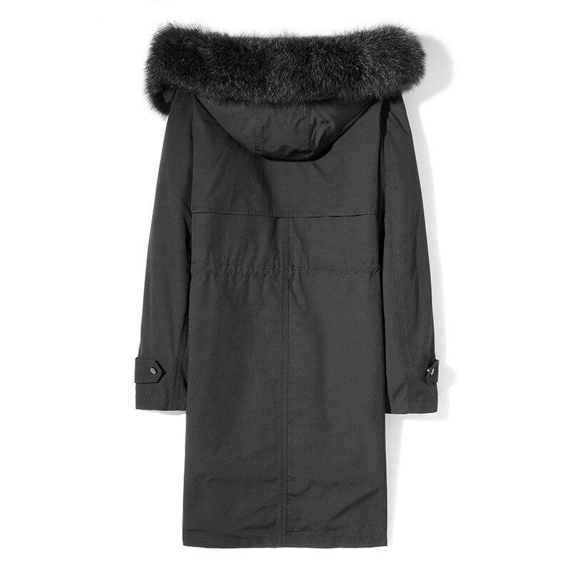 Winter Jacket Real Fur Parka Rabbit Fur Liner Long Coat Male Raccoon Fur Collar Parkas Hombre Invierno MG-1816002 KJ1325