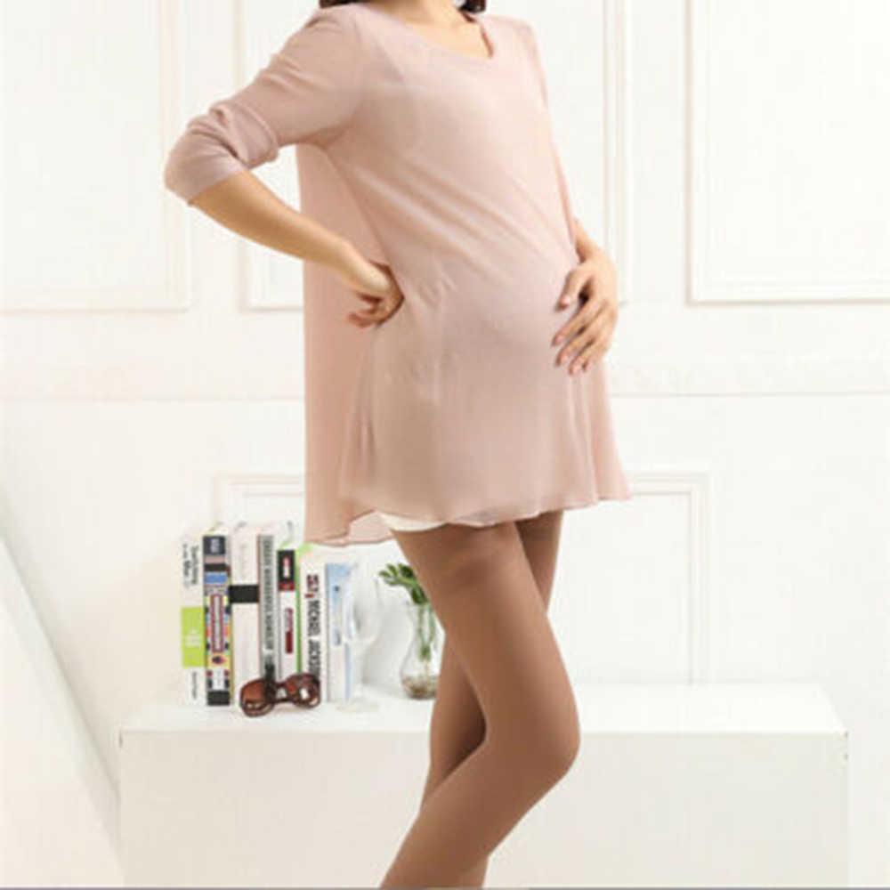 Grande taille femmes enceintes collants noir bas chaussette mince vêtements d'automne