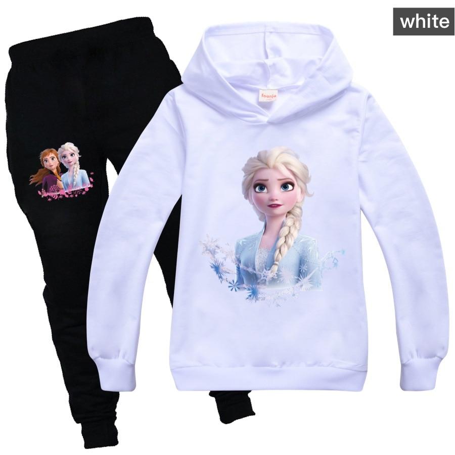 Детский спортивный костюм Disney «Холодное сердце», комплект одежды для девочек, толстовки с капюшоном и штаны «Холодное сердце», детская спор...