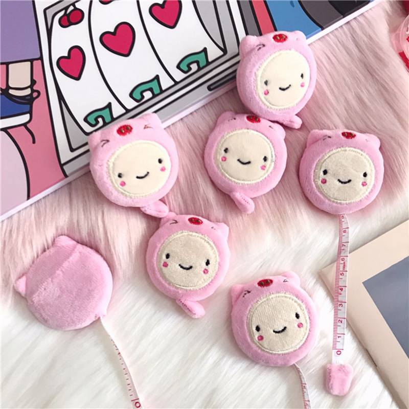 Tape Measure Plush Cartoon Retractable Soft Tape Measure 1.5m/60 Inch For Sewing Body Cloth NC99
