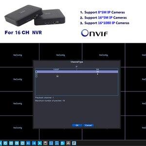 Image 3 - Mini CCTV NVR 4CH 8Ch dla H.264 16CH dla H.265 wideo nagrywarka dvd Onvif dla pełnego aparat IP HD System nadzoru bezpieczeństwa Alarm