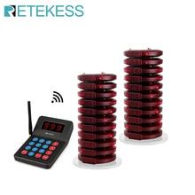 RETEKESS T119 999 kanal restoran çağrı kablosuz çağrı kuyruk sistemi kuyruk Coaster çağrı cihazları ile Fast Food için Cafe Bar mağaza