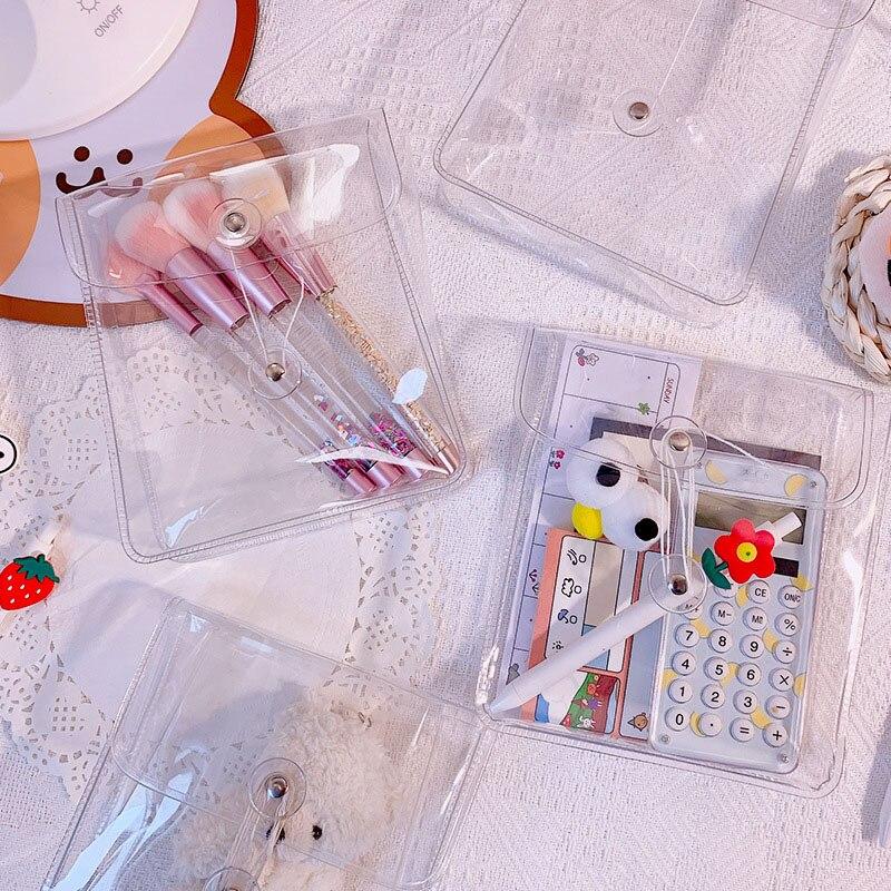 Fashion Transparent Waterproof Girls Winding Travel Cosmetic Bag Makeup Case Handbag Organizer Storage Pouch Toiletry Wash Bag