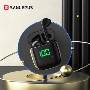 SANLEPUS Led Display TWS Bluetooth Earphones Wireless Headphones Gaming Headset Earbuds For Android iOS Xiaomi Huawei vivo redmi