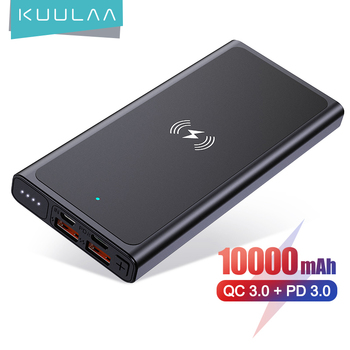 kuulaa-10000mah-power-bank-wireless-chargers-pd-qc3-0-powerbank-wireless-fast-charge-portable-batter-for-iphone12-xiaomi-huawei