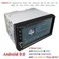 Beste Wifi Modell Android 9,0 Quad Core 7 Zoll Touch bildschirm Universal Auto Stereo Video Empfänger GPS Doppel 2 din GPS Navigation BT