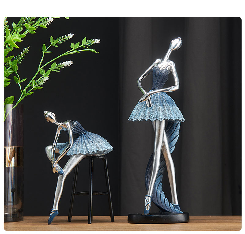 Ballet menina estatueta arte abstrata bailarina resina