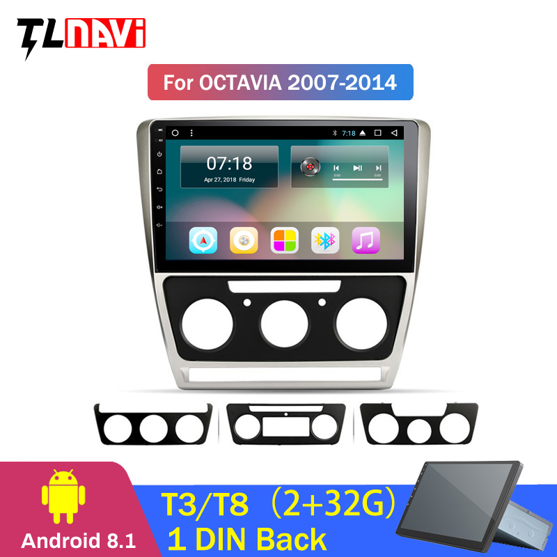 Excellent For Skoda Octavia 2 A5 2008 2010 2011 2012 2013 Car Radio Multimedia Video Player Navigation GPS Android 8.1 No 2din 0