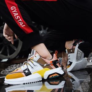 Image 2 - 2019 גברים של נעלי ספורט עם בד תפרים אופנתי חיצוני גברים של מאמני מוגבר פנימי נעלי גבר עם אוויר רשת בתוספת גודל