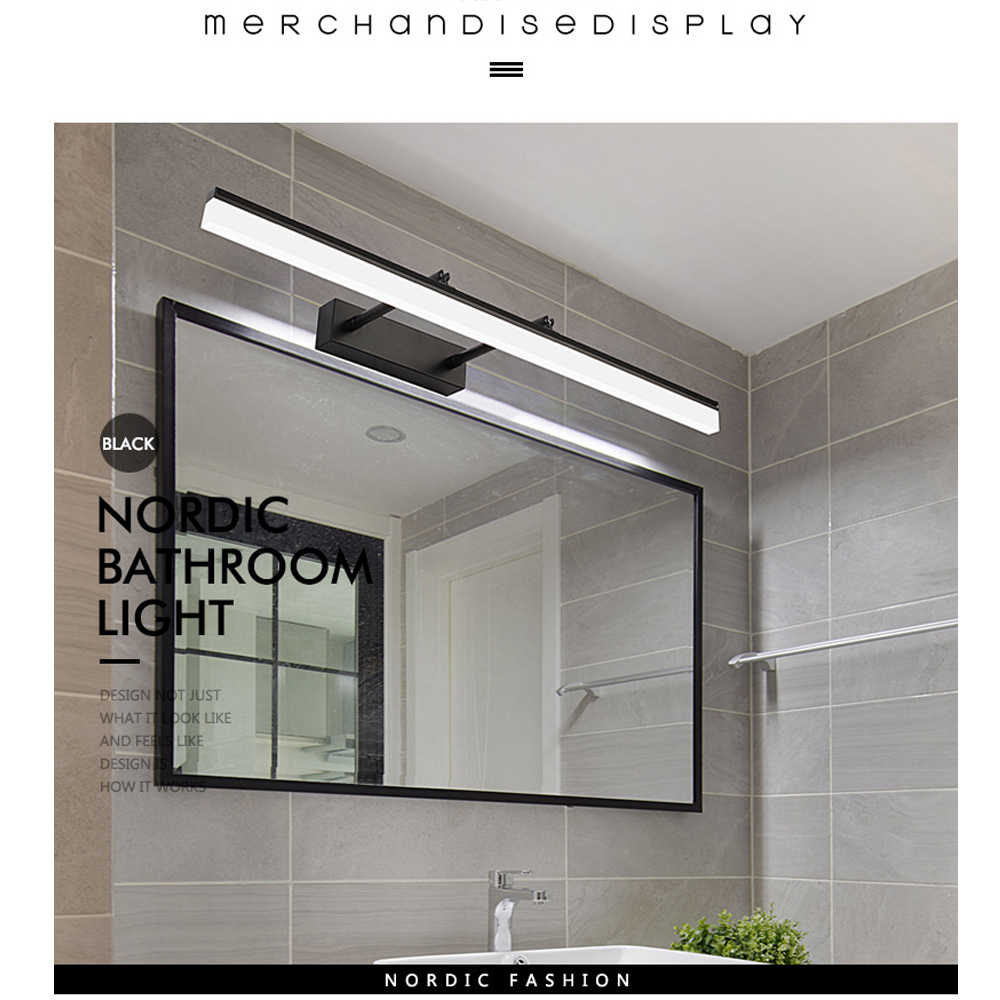 JUSHENG Bathroom Vanity Light over Mirror  Retractable Bedroom Cabinet Vanity Mirror Light Fixtures Led Wall Light Lamp