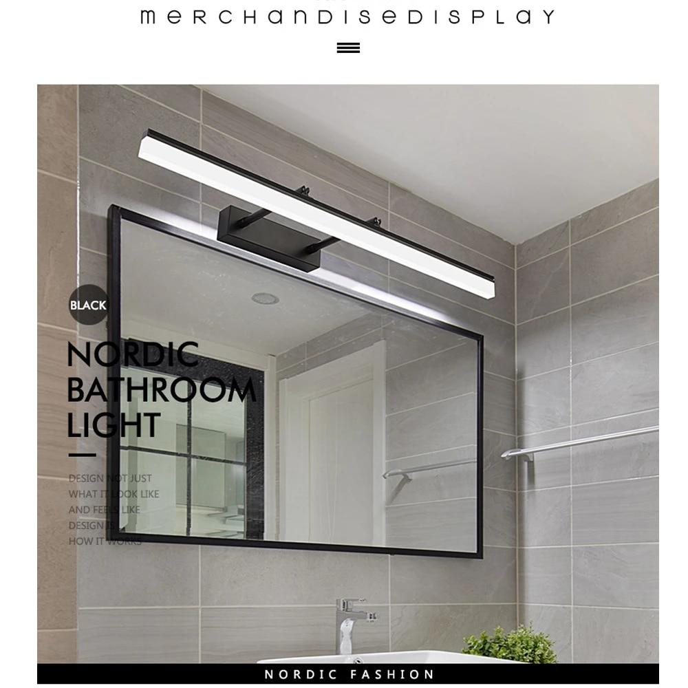 jusheng bathroom vanity light over mirror retractable bedroom cabinet vanity mirror light fixtures led wall light lamp