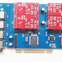 Голосовая карта 4 порта FXO карта Asterisk для Voip IP PBX Digium TDM410P Openvox FreePBX Elastix