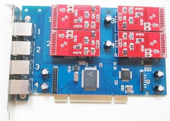 Darmowa wysyłka karta głosowa 4 porty FXO Asterisk karta dla Voip IP PBX Digium TDM410P Openvox FreePBX Elastix tanie i dobre opinie DINSTAR Adapter voip TDM-410P40 dahdi zaptel asterisk trixbox elastix