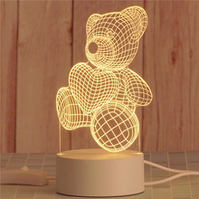 Toy Lamp Decorative-Table Led-Night-Light Gift Love 3D Balloon Heart-Shaped Wife's Romantic