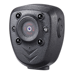 HD 1080P Police Body Lapel Worn Video Camera DVR IR Night Visible LED Light Cam 4-hour Record Digital Mini DV Recorder Voice 16G