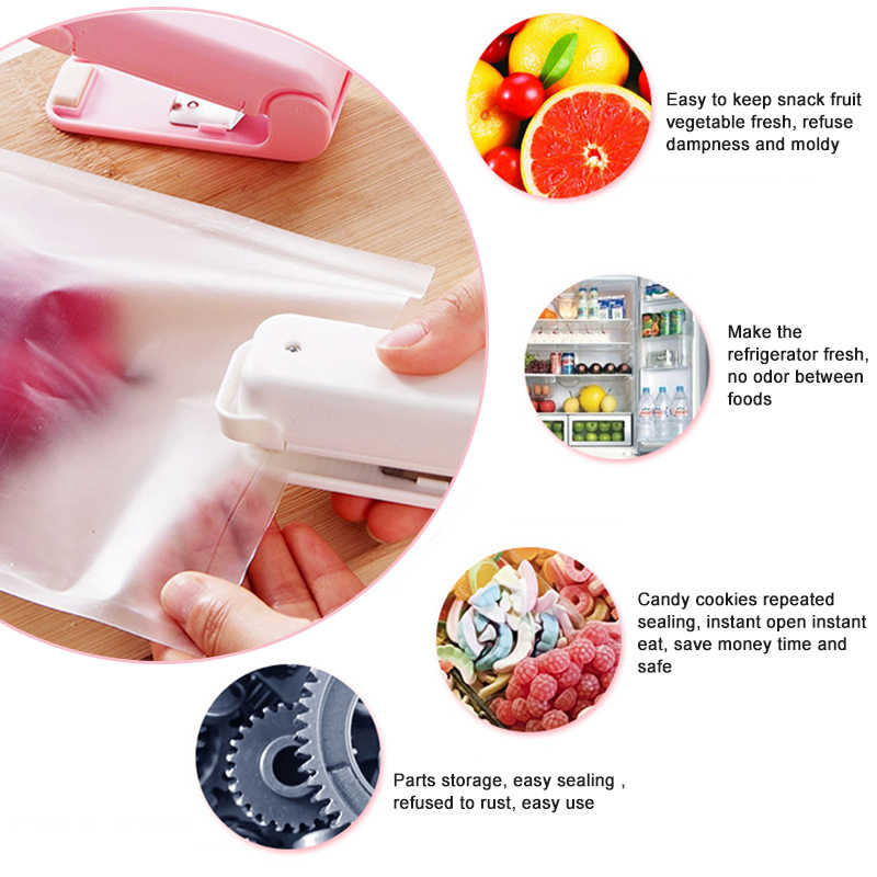 MINI SEALING MACHINE  PORTABLE FOOD STORAGE Easy to use Make Food Fresh