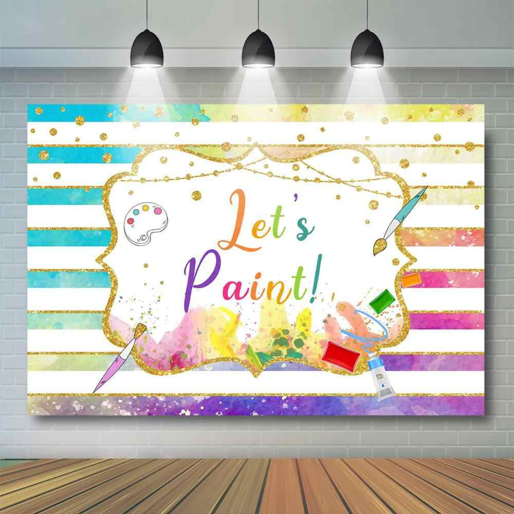 Paint party banner Art party banner