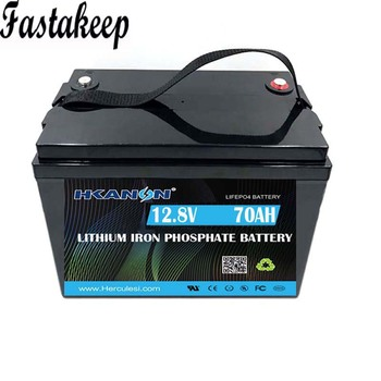 deep cycle power lithium 12v 70ah lifepo4 battery pack for RV/solar system image