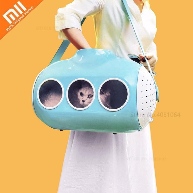 Xiaomi Submarine Shape Cat Bag Cat Backpack Skylight Breathable Travel Puppy Cat Bag Transparent Space Pet Backpack Pet Handbag