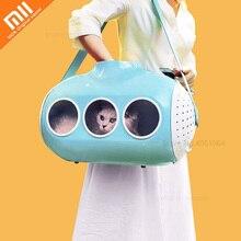 Youpin Submarine Shape Cat Bag Cat Backpack Skylight Breathable Travel Puppy Cat Bag Transparent Space Pet Backpack Pet Handbag