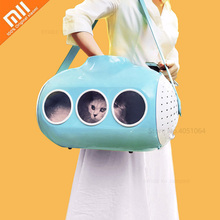 Youpin mochila con forma de submarino para gatos, bolso de viaje transpirable, para cachorros y gatos, mochila transparente para mascotas