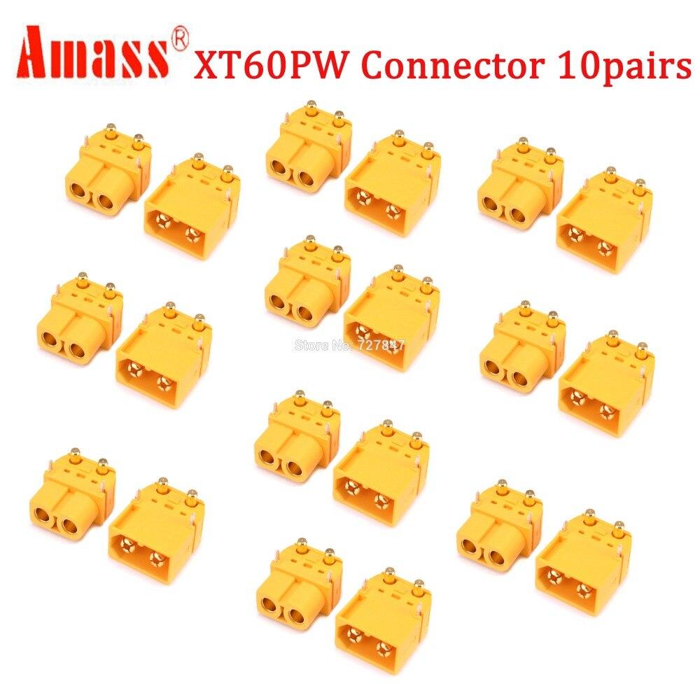 20 шт.(10 пар) Высокое качество XT30 XT30U XT60 XT60H XT60L XT60PW XT90 XT90S разъем для батареи мультикоптера - Цвет: Amass XT60PW Plug