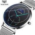 NEKTOM 2019 new clock luxury watch Reloj Hombre men's watch waterproof chronograph watch luminous men's watch Saat Montre