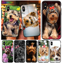 Black Cover Phone-Case for 11 Pro XS Max Xr-x-8/7/6/.. Terrier-Dog Bright Yorkshire